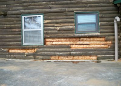 Rotten wood removed